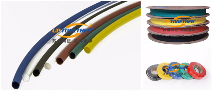 Halogen Free Colorful Thin Wall Heat Shrink Tubing 125 ℃ Fully Shrink