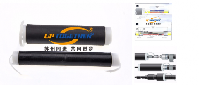 EPDM Flexible Shrink Tubing , Cold Shrink Cable Tube With Double Strips