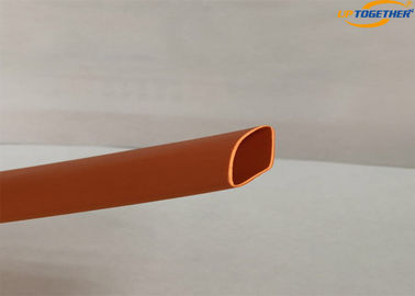 China PE Material Adhesive Heat Resistant Shrink Tubing Orange Color Low Voltage supplier