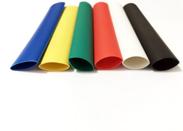 3/1 4/1 Ratio 6.4mm Colourful Waterproof Dual Wall Adhesive Heat Shrink Tubing For Electrical Wires